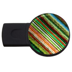 Colorful Stripe Extrude Background USB Flash Drive Round (1 GB)