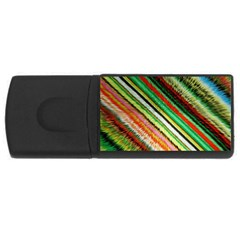 Colorful Stripe Extrude Background USB Flash Drive Rectangular (1 GB)