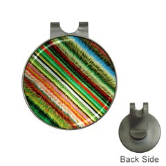Colorful Stripe Extrude Background Hat Clips With Golf Markers