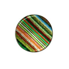 Colorful Stripe Extrude Background Hat Clip Ball Marker (10 Pack)