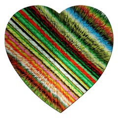 Colorful Stripe Extrude Background Jigsaw Puzzle (Heart)