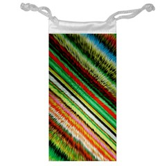 Colorful Stripe Extrude Background Jewelry Bag