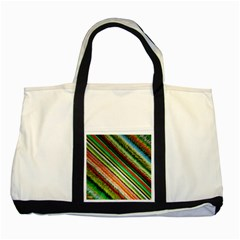 Colorful Stripe Extrude Background Two Tone Tote Bag