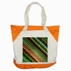 Colorful Stripe Extrude Background Accent Tote Bag