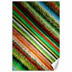 Colorful Stripe Extrude Background Canvas 12  x 18