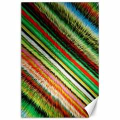 Colorful Stripe Extrude Background Canvas 24  x 36