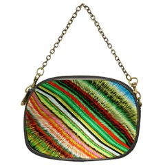 Colorful Stripe Extrude Background Chain Purses (two Sides)