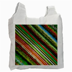 Colorful Stripe Extrude Background Recycle Bag (two Side)