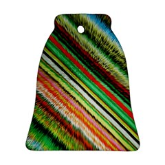 Colorful Stripe Extrude Background Ornament (Bell)
