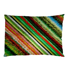 Colorful Stripe Extrude Background Pillow Case (Two Sides)