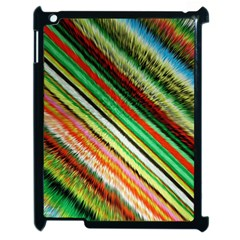 Colorful Stripe Extrude Background Apple Ipad 2 Case (black)