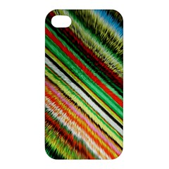 Colorful Stripe Extrude Background Apple iPhone 4/4S Premium Hardshell Case