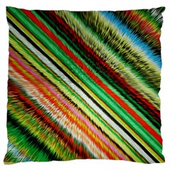 Colorful Stripe Extrude Background Large Cushion Case (two Sides)