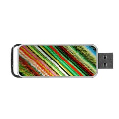 Colorful Stripe Extrude Background Portable USB Flash (One Side)