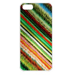 Colorful Stripe Extrude Background Apple Iphone 5 Seamless Case (white)