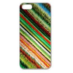 Colorful Stripe Extrude Background Apple Seamless iPhone 5 Case (Clear)