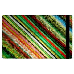 Colorful Stripe Extrude Background Apple iPad 3/4 Flip Case