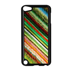 Colorful Stripe Extrude Background Apple Ipod Touch 5 Case (black)
