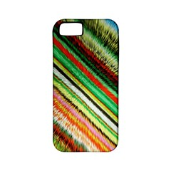 Colorful Stripe Extrude Background Apple iPhone 5 Classic Hardshell Case (PC+Silicone)