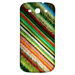 Colorful Stripe Extrude Background Samsung Galaxy S3 S Iii Classic Hardshell Back Case
