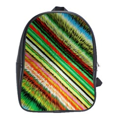 Colorful Stripe Extrude Background School Bags (XL)