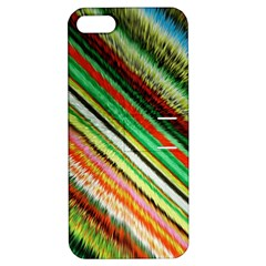 Colorful Stripe Extrude Background Apple iPhone 5 Hardshell Case with Stand