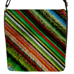 Colorful Stripe Extrude Background Flap Messenger Bag (S)