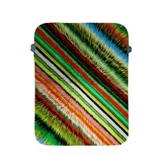 Colorful Stripe Extrude Background Apple iPad 2/3/4 Protective Soft Cases