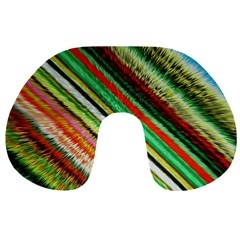 Colorful Stripe Extrude Background Travel Neck Pillows