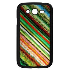 Colorful Stripe Extrude Background Samsung Galaxy Grand DUOS I9082 Case (Black)