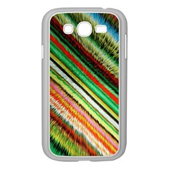 Colorful Stripe Extrude Background Samsung Galaxy Grand Duos I9082 Case (white)