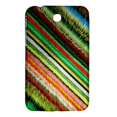 Colorful Stripe Extrude Background Samsung Galaxy Tab 3 (7 ) P3200 Hardshell Case