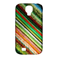 Colorful Stripe Extrude Background Samsung Galaxy S4 Classic Hardshell Case (PC+Silicone)