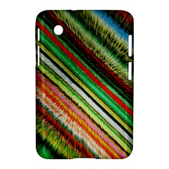 Colorful Stripe Extrude Background Samsung Galaxy Tab 2 (7 ) P3100 Hardshell Case