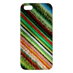 Colorful Stripe Extrude Background iPhone 5S/ SE Premium Hardshell Case