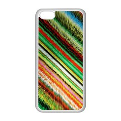 Colorful Stripe Extrude Background Apple iPhone 5C Seamless Case (White)