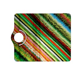 Colorful Stripe Extrude Background Kindle Fire HDX 8.9  Flip 360 Case