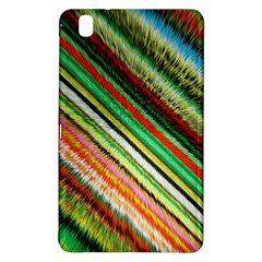 Colorful Stripe Extrude Background Samsung Galaxy Tab Pro 8.4 Hardshell Case