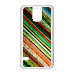 Colorful Stripe Extrude Background Samsung Galaxy S5 Case (White)
