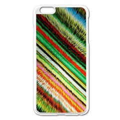 Colorful Stripe Extrude Background Apple iPhone 6 Plus/6S Plus Enamel White Case