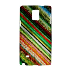 Colorful Stripe Extrude Background Samsung Galaxy Note 4 Hardshell Case