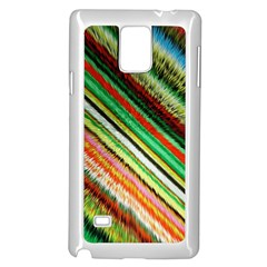 Colorful Stripe Extrude Background Samsung Galaxy Note 4 Case (white)
