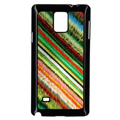 Colorful Stripe Extrude Background Samsung Galaxy Note 4 Case (Black)