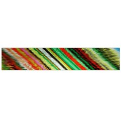 Colorful Stripe Extrude Background Flano Scarf (Large)
