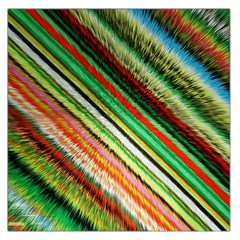 Colorful Stripe Extrude Background Large Satin Scarf (square)