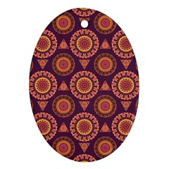 Abstract Seamless Mandala Background Pattern Ornament (oval)