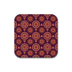 Abstract Seamless Mandala Background Pattern Rubber Coaster (square)