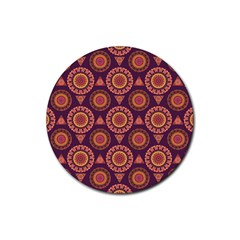 Abstract Seamless Mandala Background Pattern Rubber Round Coaster (4 pack)