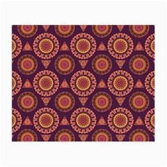Abstract Seamless Mandala Background Pattern Small Glasses Cloth