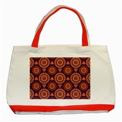 Abstract Seamless Mandala Background Pattern Classic Tote Bag (Red)